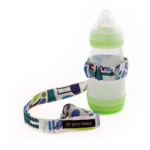 Ah Goo Baby Bottle Strap, Zoo Frenzy