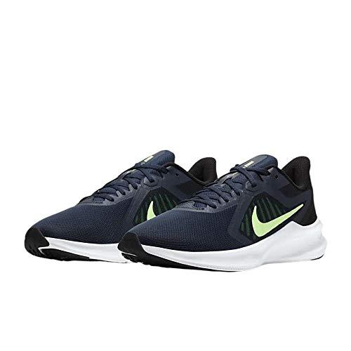 Nike Downshifter 10, Zapatillas para Correr Hombre, Obsidian Lime Glow Black, 44.5 EU