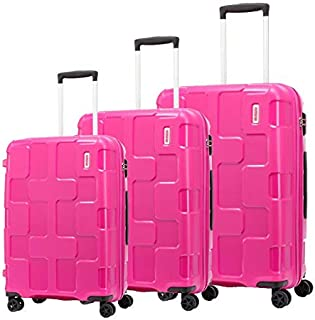 American Tourister Luggage Trolley Bags For Unisex, 3 Pieces - Pink