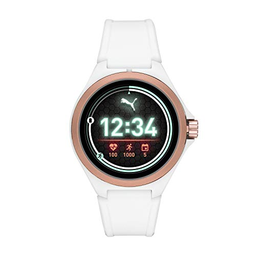 PUMA Unisex Sport Silicone Touchscreen Smart Watch, Color: White (Model: PT9102)