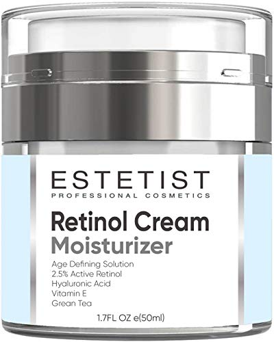 Face Moisturizer 2,5% Organic Retinol Cream for Day & Night with Hyaluronic Acid - Best Facial Age Defying Solution for Anti Aging, Wrinkles & Fine Lines to Restore Elasticity