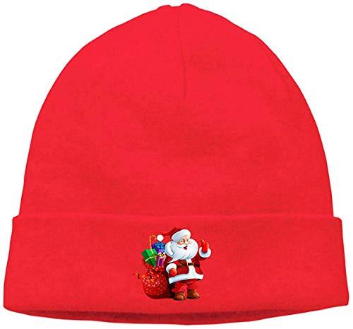 Voxpkrs Adult Skull Cap Beanie Merry Christmas Knitted