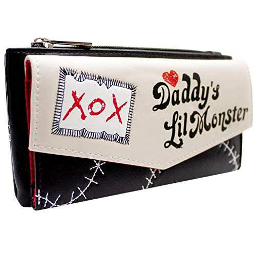 Suicide Squad Harley Quinn Daddy's Lil Monster XOX Coin and Card Purse Cream