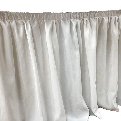 Stoff-Kollektion Tischrock Table Skirt Weiß (5m Länge)