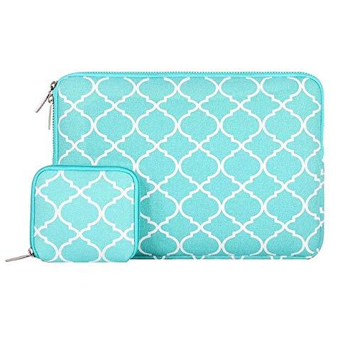 Canvas Laptop Sleeve Case For Notebook Sleeve Case Older Mac 13 inch Quatrefoil Hot Blue