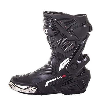 Bottes Homme Bolt Pro S13 Courses Moto TOURNÉE Sports Cuir IMPERMÉABLE Chaussures Noir (EU 47)