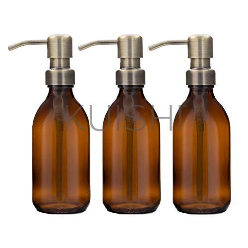 Kuishi Gift Set van drie Amber Zeep Dispenser flessen