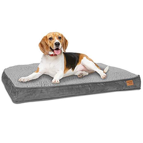 ib style Happy Dreams Hundebett   Hundematte   mit Reißverschluss   Anti-Rutsch Unterseite   3 Größen   M (82x58cm )