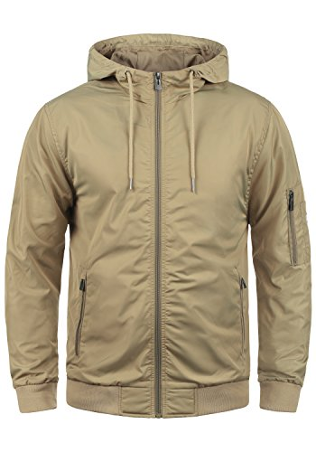Blend Razy Herren Übergangsjacke Herrenjacke Jacke mit Kapuze, Größe:XL, Farbe:Safari Brown (75115)