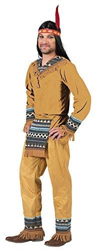 Funny Fashion Indianer Cherokee Herren Kostüm Gr. 52 54