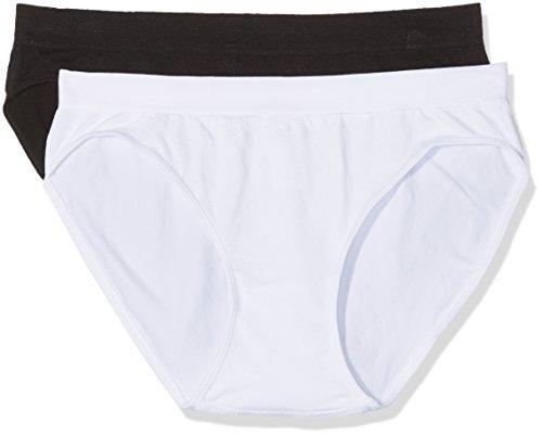 Unno DIM Basic Sin Costuras Micro Braguita, Negro (Blanco/Negro 0c9), (Tamaño del Fabricante: L/XL) (Pack de 2) para Mujer