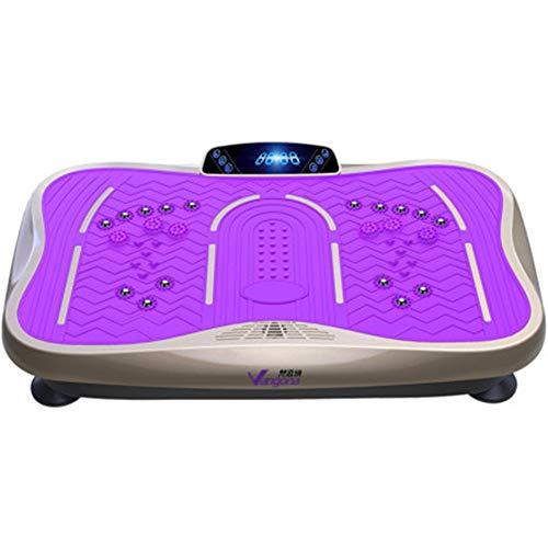 Placa de vibración de la máquina Power Gym La vibración de Fitness Plataforma Vibratoria Ejercicio de Entrenamiento en Casa máquina Formadores de vibración (Color : Purple, Size : 62x38x13cm)