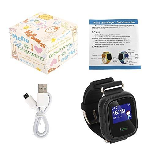 Heaviesk Q60 Kind Smartwatch Safe-Keeper SOS-Anruf Anti-Lost-Monitor Echtzeit-Tracker für Kinder Basisstation Lage APP-Steuerung
