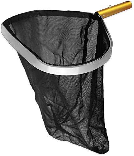 well2wellness® Poolkescher Bodenkescher schwarz-Gold mit Alurahmen, Alugriff und extra großem Netz
