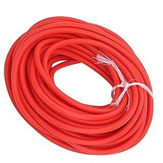 scheda vgeby tubo in lattice fionda, tubo in lattice da 32,8 piedi corda elastica 1,7 mm id / 4,5 mm od per fionda catapulta caccia all aperto fitness(rosso)