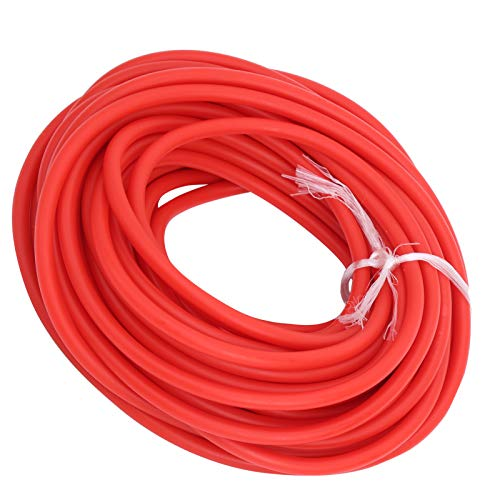 CHICIRIS Tubo in Lattice da 10 m, Fascia Elastica in Corda per fionde 1,7 mm ID / 4,5 mm OD per Fionda da Caccia all'aperto(Rosso)