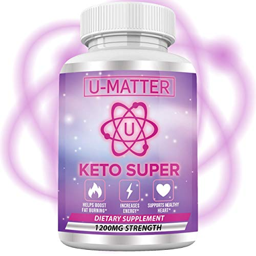 KETO SUPER Apple Cider Vinegar Capsules with Mother + Green Tea Ketones (High Potency 1200 mg) 6X Weight Loss Pills for Super Rapid Fat Burn, Utilize Fat for Energy, Enhance Your Diet – U-Matter 60 CT