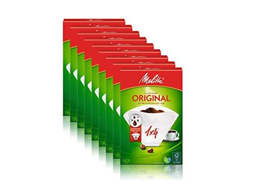 Filtertüten Melitta 1x4/80 weiß Aroma, 9er Pack (9 x 80 Stück)