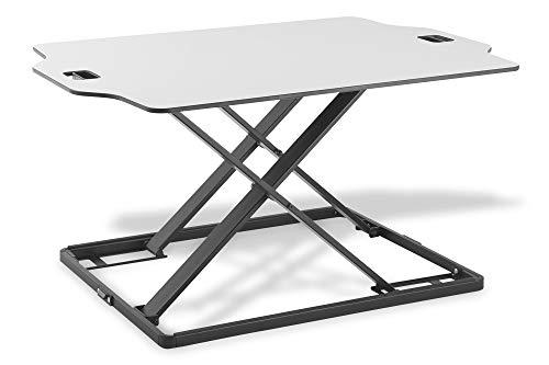 DIGITUS Kompakter Steh/Sitz Schreibtisch-Aufsatz - Ergonomischer Notebook-Arbeitsplatz 79 x 54 cm - Höhe von 2.6 - 40 cm