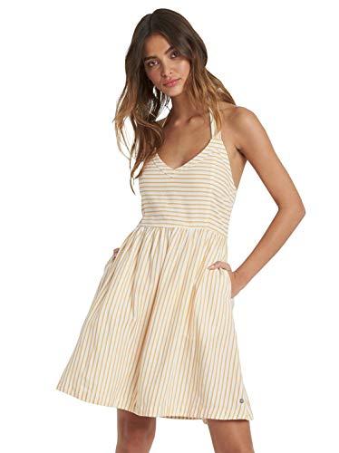Roxy Damen from The Side Halter Dress Kleid, Schneewittchen Indie Streifen, X-Groß
