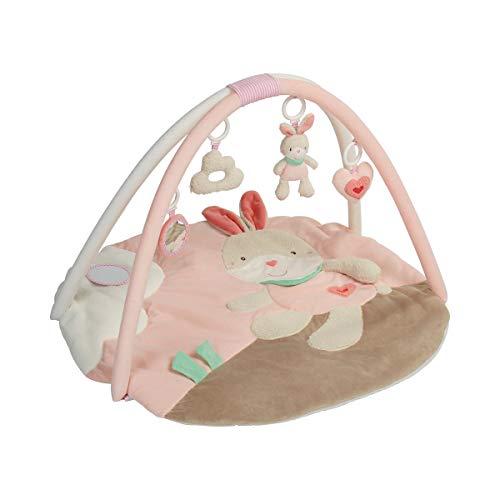 solini Tapis d'éveil 3D avec arceaux de jeu, rose - lapin