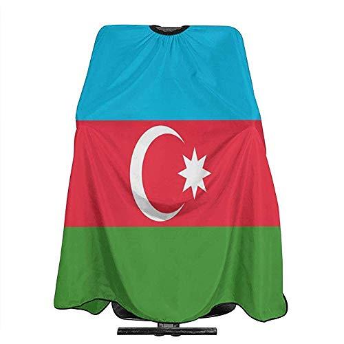 Salon Cape Azerbeidzjan Vlag Licht Gewicht Aangepaste Polyester Schort Barber Supplies Kapsel Professionele Salon Cape Cover Unisex Kapper Cape