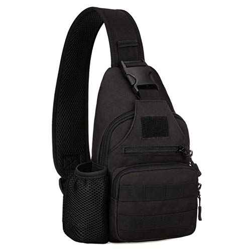 Tactical Military Chest Sling Bag Water Resistant MOLLE Shoulder...