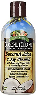 Garden Greens Coconut Juice, 2 Day Cleanse Powered with Aloe and Coconut, Cleanse and Detox, 8 servings by Garden Greens