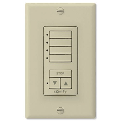 Somfy so181107X 4-so1811075Decoflex RTS sin interruptor de pared & # 44; 4canal & # 44; Color Marfil