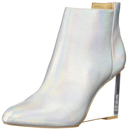 Katy Perry Women's The Mona Ankle Boot, Platinum Multi, 6 M M US
