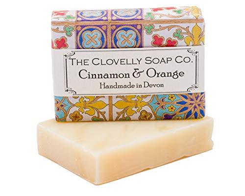 Clovelly Soap Co Natürliche handgemachte Seife für alle Hauttypen Zimt & Orange 100g