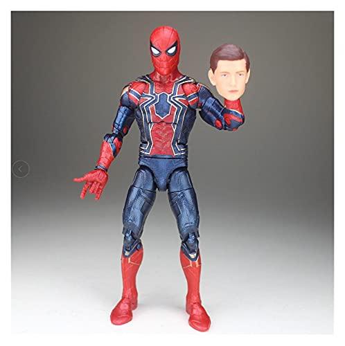 Figura Juguete Legends Tony Pizza Scarlet 2099 Spider-Man Dead-Pool Hydra Action Figure Flow Collection Hot Venta Figura Juguete (Color : Iron Spider)