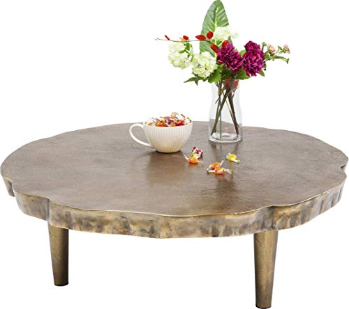Kare Valley Coffee Table, Metal, Gold, 86 x 86 x 30 cm