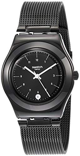 Swatch Damen Analog Quarz Uhr mit Edelstahl Armband YLB403M