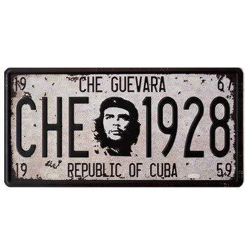 DiiliHiiri Nummernschild, Che Guevara, Retro-Stil, Heimdekoration