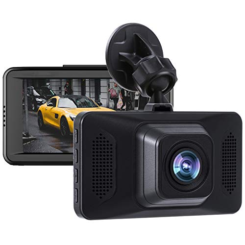 Dash Cam 1080P FHD Car Dashboard Camera 3 Inch LCD Screen 170° Wide Angle, G-Sensor, WDR, Parking Monitor, Loop Recording, Motion Detection