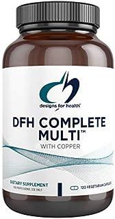 Designs for Health DFH Complete Multi with Copper - Multivitamin, Multimineral Supplement with Folate, Immune Support Vita...