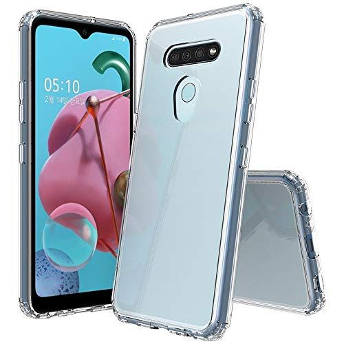 Xyamzhnn Estuches para teléfono para LG Q51 / K51 a Prueba de Golpes TPU a Prueba de rasguños + cáscara Protectora de acrílico (Color : Transparent)