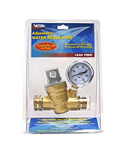 RV Trailer Camper Adj. Water Regulator W/Gauge Lead-Free VALTERRA A01-1117VP