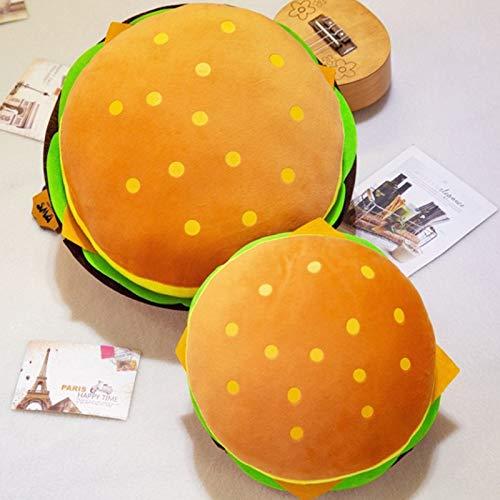 CZJMCT-DQ Cojín de peluche con forma de hamburguesa CZJMCT-DQ (color: 40 cm)