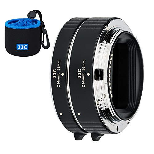 JJC AF Tubo di prolunga in metallo per messa a fuoco automatica (11 mm 16 mm) con esposizione TTL per fotocamere Nikon Z Mount Z50 Z7 Z6 DSLR e obiettivo per fotografia macro