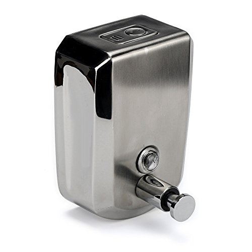 Kariwell 500/800/1000ml Stainless Steel Liquid Soap Dispenser Wall Mount Shampoo Box for Kitchen Sink and Bathroom (C)
