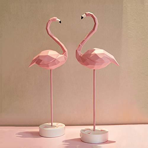 LUGEUK Rosa Geometrische Flamingo Harz Metall Dekoration Skulptur Dekor Statue Abbildung Geschenk Ornament Souvenir