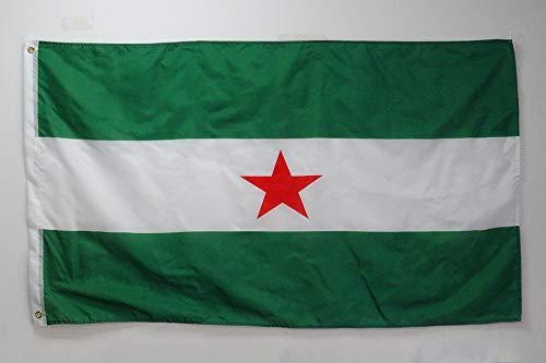 AZ FLAG Bandera de Andalucia ARBONAIDA 150x90cm - Bandera INDEPENDENTISTA ANDALUZA - NACIONALISMO Andaluz 90 x 150 cm