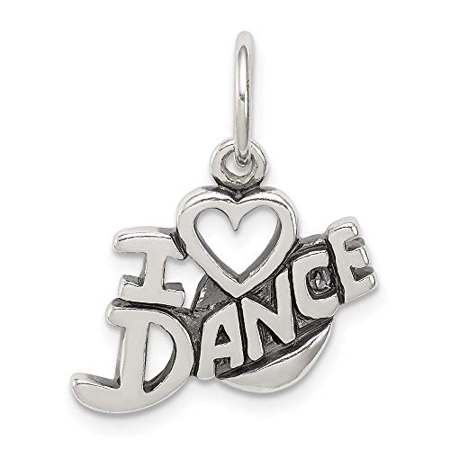 925 Sterling Silver I Love Dance Pendant Charm Necklace Art Theater Fine Jewelry For Women Gifts For Her