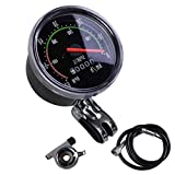 Odómetro de Bicicleta, Velocímetro Mecánico Puntero Rojo 0-60 Km/H Adecuado para Bicicletas de 26 28 29 27.5 Pulgadas...