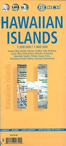 Hawaiian island. 1:200 000 / 1:400 000: Hawaii (Big Island), Kilauea Caldera, Hilo, Molokai, Lanai, Maui, Kahoolawe, Wailuku & Kahului, Hawaiian ... / water-repellent / write-on/wipe-off surface