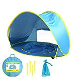 PW TOOLS Baby Strandzelt, Pop-up Baby Strandzelt Portable Shade Pool UV-Schutz Sun Shelter für Kleinkinder, Strandmuschel, Baby Pool