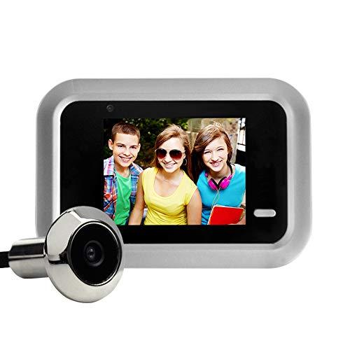 SANGSHI Mirilla para puerta, ojo de puerta, pantalla TFT LCD de 2,4 pulgadas, cámara digital de timbre de puerta con vídeo electrónico, orificio para ver la puerta exterior
