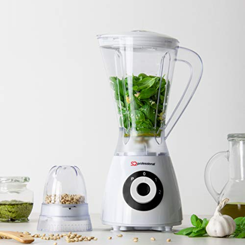 SQ Professional Blitz Superblend Blender and Grinder with 1.5 Litre Jug, 2 Speed Settings Plus Pulse Function 400W (Black)